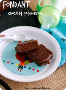 Fondant chocolat potimarron à partir de 24 mois