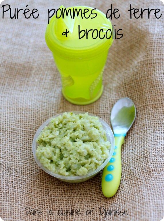 Purée pommes de terre et brocolis végane pour bébé dès 6/7 mois